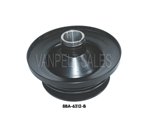 crank pulley dual sheave wide belt pulley