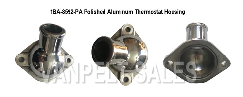 1BA-8592-PA Thermostat Housing - Polished Aluminum - for 49-53 V8