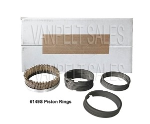 "8BA-6149S Piston Ring Set - 1939-53 V8 Motor 3 3/16"" (3.1875)"