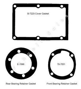 91A-7153:  Gasket Set (3 pc set) for top loader (32-51)