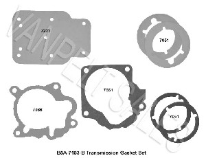 B5A-7153:  Gasket Set (full set) For 1955-64 Ford T-86 Transmissions  (with Borg Warner OD)