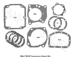 B6A-7153:  Gasket Set (full set) For 1948-63 Ford HD 3 Speed transmissions   (Standard and OD)