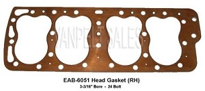 "EAB-6051-C Head Gasket - RH (1949-53) - Copper - 3.1875"" Bore"